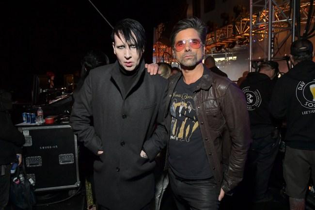 John Stamos and Marilyn Manson