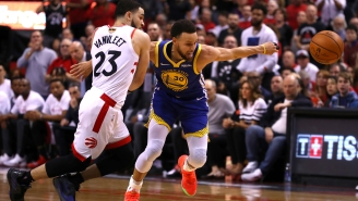 The Aerial View Of The Team Defense The Raptors Played On Steph Curry Late In Game 2 Is Wild