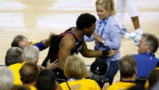 The Bozo Who Pushed Kyle Lowry And Said 'Vulgar' Words To Him During Game 3 Is A Billionaire Part Owner Of The Warriors