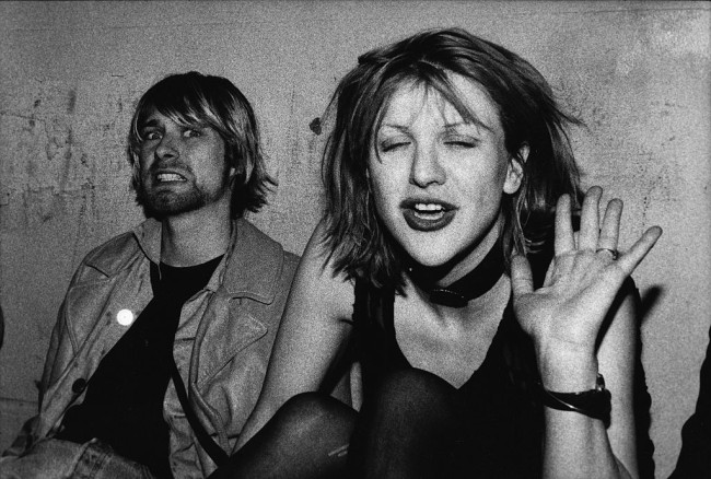 Courtney Love said she talked to Kurt Cobain's ghost in new interview.