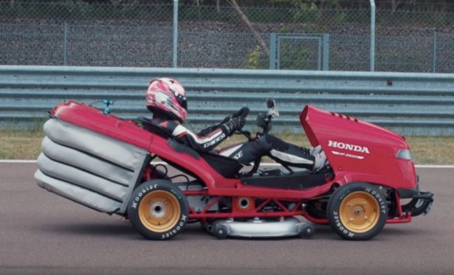Honda Mean Mower V2 world's fastest lawnmower