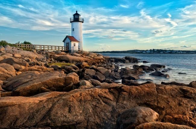 Annisquam lighthouse located near Gloucester, Massachusetts