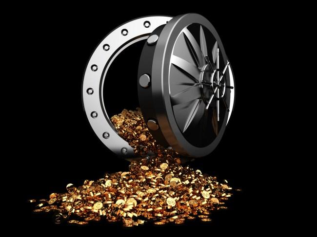 bank vault gold
