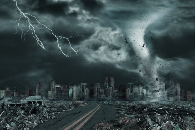 end of the world tornado and hurricane