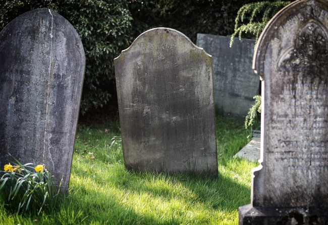 old tombstone blank graveyard