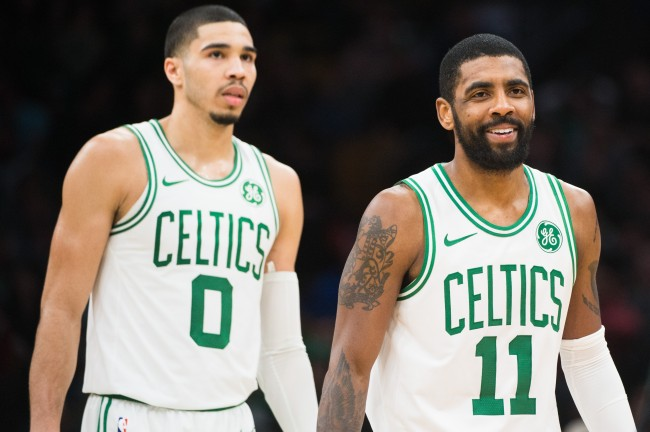 New report suggests that Kyrie Irving treated teammate Jason Tatum like LeBron James treated Irving when both were on the Cavs together.