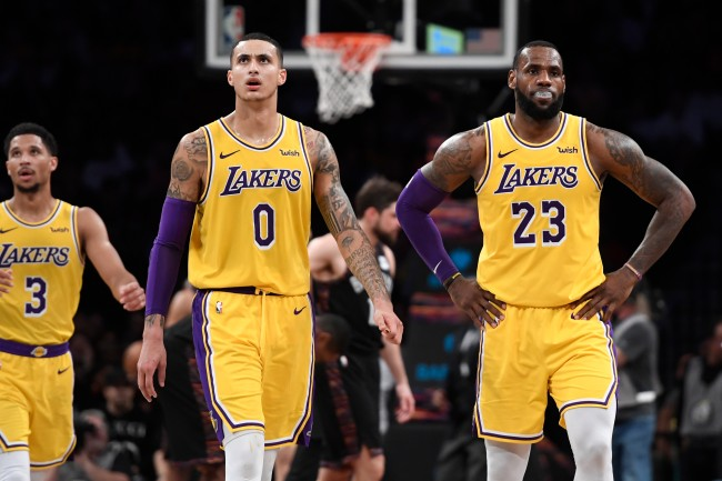 Reports say that Kyle Kuzma could be the main factor for Los Angeles Lakers in trade talks with Anthony Davis
