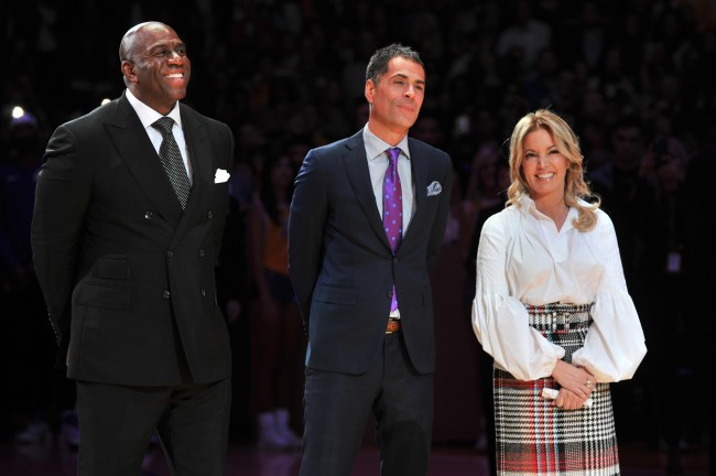 """Magic Johnson says that he was """"sending notes"""" to execs of Los Angeles Lakers during Anthony Davis trade negotiations."""