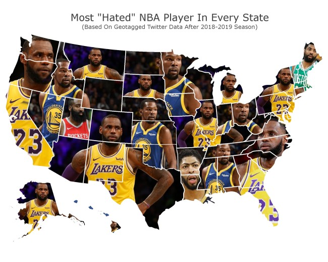 most hated nba players map