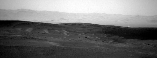 NASA has released a photo taken by its Curiosity rover that shows a mysterious, unexplained white light on Mars.