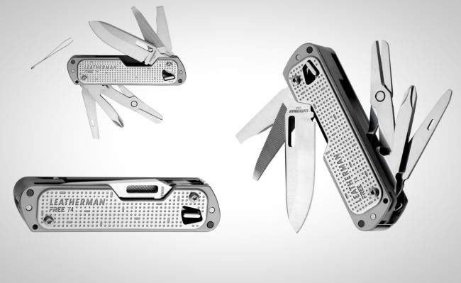 all new Leatherman FREE T4 one-handed multitool everyday carry