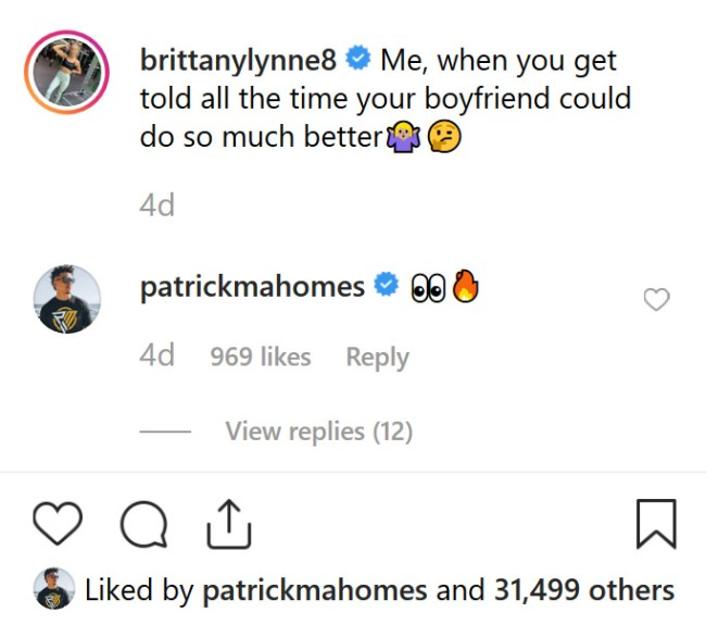Patrick Mahomes Girlfriend Fires Back At Haters With Bikini Pics