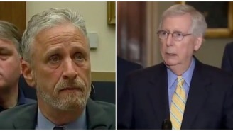 Jon Stewart Rips Mitch McConnell For Dragging His Feet On 9/11 Victim Compensation Bill, McConnell Responds