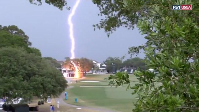 U.S. Women's Open Lightning Strike