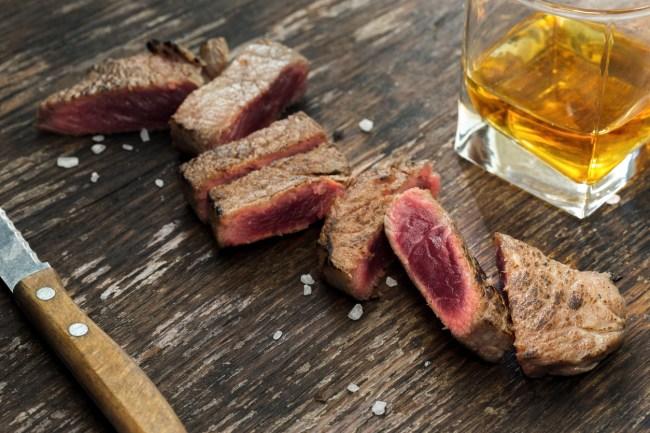 steak and bourbon ice cream
