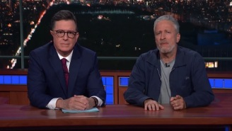 Jon Stewart Hopped On 'The Late Show' To Dunk On Mitch McConnell