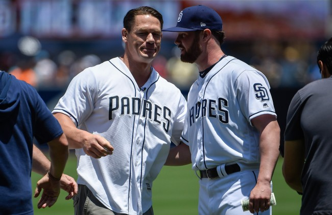 Story About John Cena Losing A Bet With Padres Rookie Logan Allen