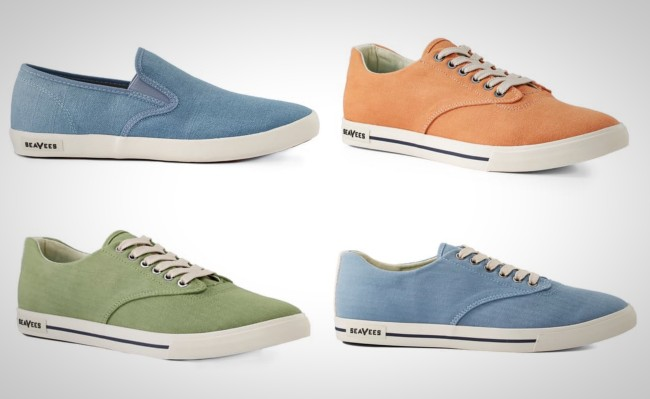 SeaVees Hermosa Plimsoll Surfwash shoes
