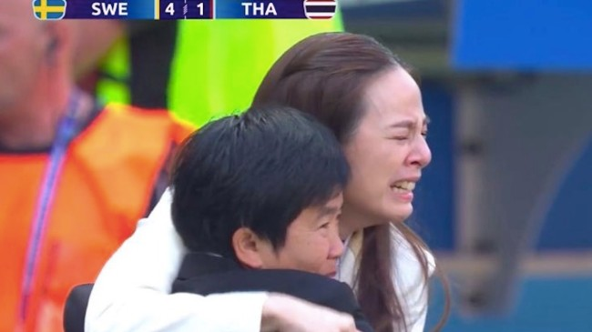 thailand manager crying at world cup