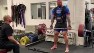 'The Mountain' Is Preparing For The World's Strongest Man Competition By Deadlifting An Absurd Amount Of Weight