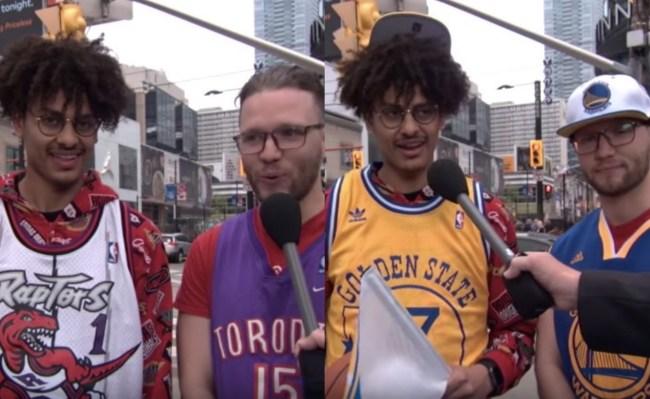 Toronto Raptors fans root for Golden State