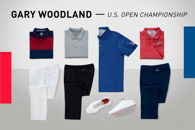 US Open scripting golf shoes puma