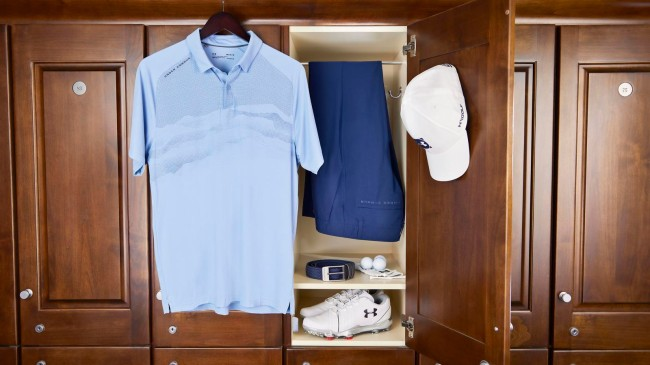 US Open scripting golf shoes under armour