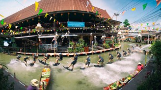 Bro Goes Wakeboarding Through Bangkok's Floating Markets And Shreds His Way Between Golden Temples