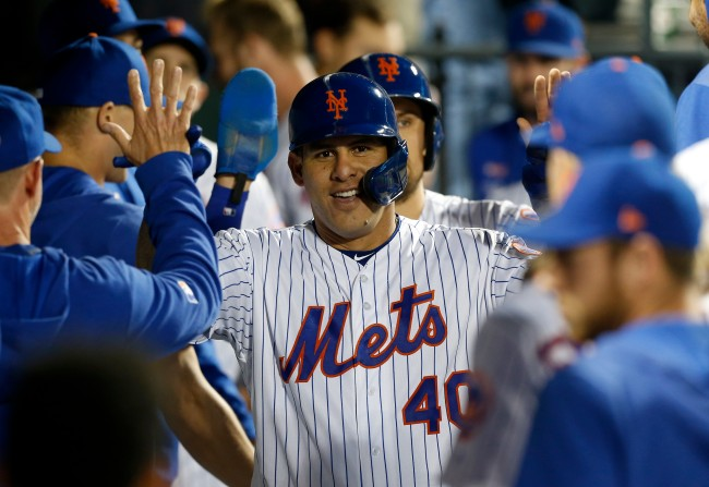 New York Mets player Wilson Ramos found out his wife was pregnant was he stood in the batters box during last night's game
