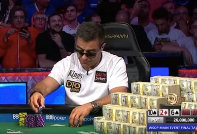 2019 World Series of Poker Main Event Final Hand Hossein Ensan wins