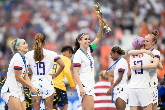 Alex Morgan details the USWNT celebration on her ESPN+ show