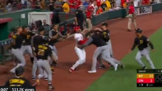 Reds Pitcher Amir Garrett Loses His Mind And Sparks Bench-Clearing Brawl After Attempting To Fight The Entire Pirates Team By Himself
