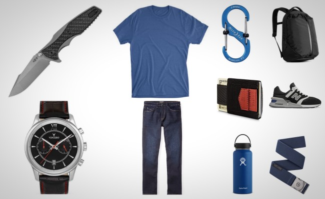 best everyday carry gear black and blue