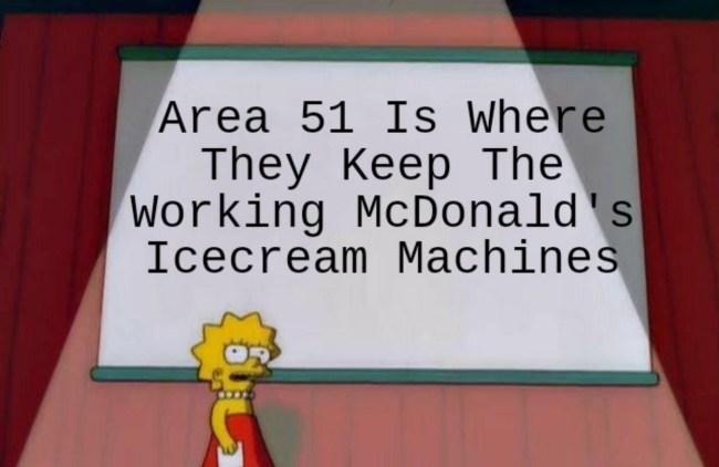 funniest mcdonalds area 51 memes