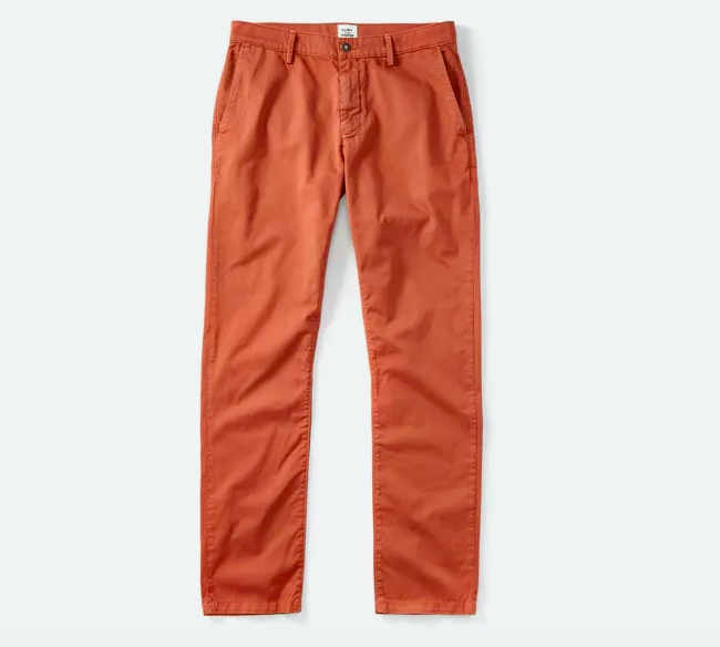 Cool Chinos in Rust from Flint + Tinder