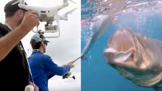 These Guys Used A Drone To Fish For Bonito And Some MASSIVE Grouper Because The Future Is Now
