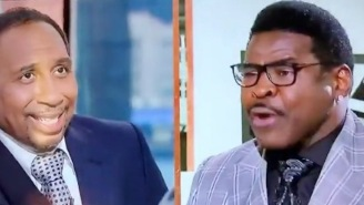 Michael Irvin Went So Buck Wild On 'First Take' That Stephen A. Legitimately Looked Scared