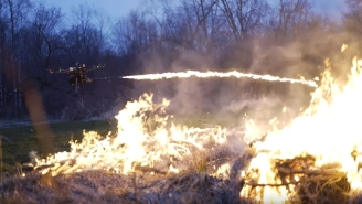 Flamethrower Drones And Firework-Shooting Drones Exist Because Who Doesn't Need Flamethrowing Or Firework-Shooting Drones?