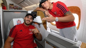 Two Arsenal Soccer Stars Escaped An Armed Carjacking In London Unharmed And There's Footage