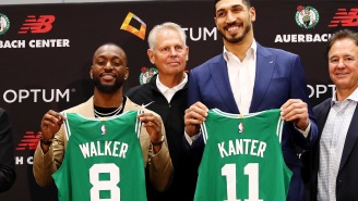Enes Kanter Trolls Kyrie Irving During Introductory Press Conference With The Boston Celtics