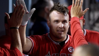 Mike Trout's 98.6 MPH Missile To Home Plate Last Night Was Poetry In Motion