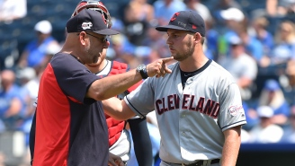 Indians Pitcher Trevor Bauer Hurled A Ball Over The Centerfield Fence From The Mound While Throwing A Hissy Fit