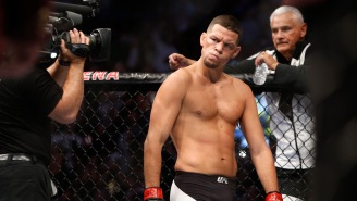 Nate Diaz And Khabib Nurmagomedov Nearly Get Into Fight At UFC 239