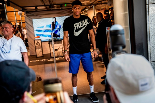 Get a behind-the-scenes look at Giannis Antetokounmpo's signature Nike shoe with ESPN+'s 'SneakerCenter' show