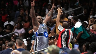 Glen 'Big Baby' Davis Rips Off His Jersey And Shorts And Tosses Them Into The Crowd In Electric Display Of Showmanship After BIG3 Ejection