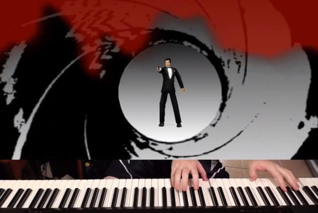 Goldeneye 007 N64 speedrun by Jackson Parodi on a piano.