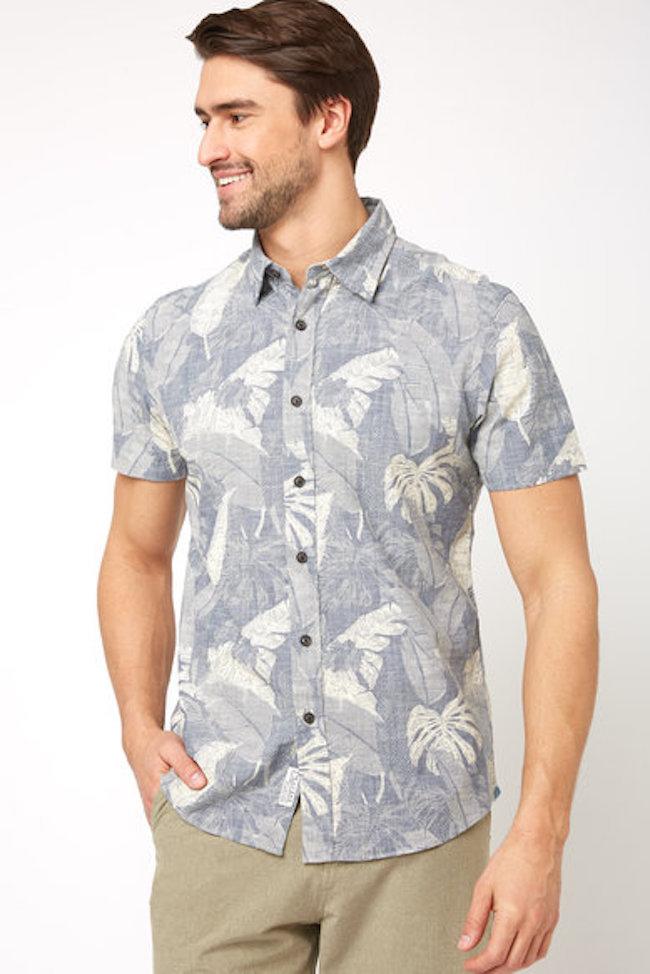Grayers Big Leaf Print Shirt