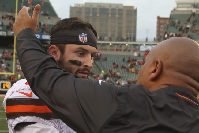 """Hue Jackson responds to Baker Mayfield's """"revenge"""" comments after beef during last season"""