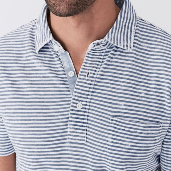 Indigo Polo in Salt Wash from Faherty Brand