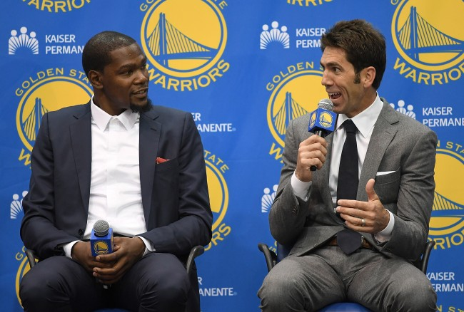 Warriors GM Bob Myers gives praise to Kevin Durant when talking about his free agency departure this summer